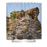 Theodosian Walls - View 1 Shower Curtain