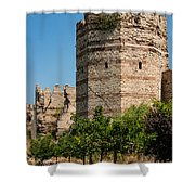 Theodosian Walls - View 3 Shower Curtain