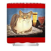 Therapy Cat Shower Curtain