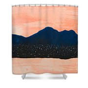There Are No Mountains In Michigan Shower Curtain