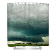 There Be A Nebraska Storm A Brewin 014 Shower Curtain