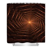 There Is Light At The End Of The Tunnel Shower Curtain