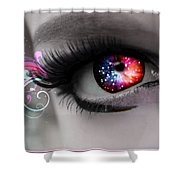 There's Magick In The Eyes Shower Curtain