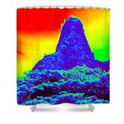 Thermal Face Of Hawaii Shower Curtain