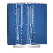 Thermojet Engine Patent Shower Curtain