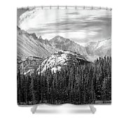 These Mountains Shower Curtain
