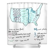 These United States Shower Curtain