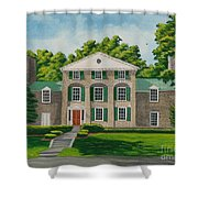 Theta Chi Shower Curtain by Charlotte Blanchard