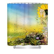 They Call Me Summer Shower Curtain by Mary Hood