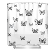 They Might Be Butterflies Shower Curtain