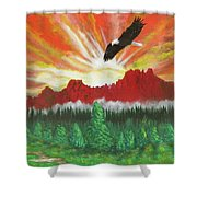 They That Wait Upon The Lord   Isa 40 31 Shower Curtain