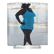 Thick Beach 14 Shower Curtain