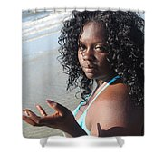 Thick Beach 17 Shower Curtain