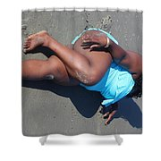 Thick Beach 2 Shower Curtain