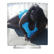 Thick Beach 4 Shower Curtain