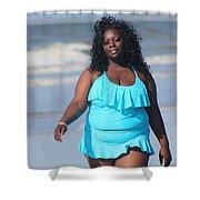 Thick Beach 7 Shower Curtain