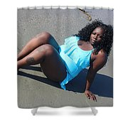 Thick Beach  Shower Curtain