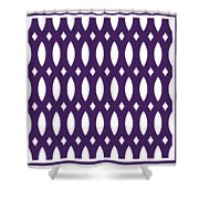 Thick Curved Trellis With Border In Purple Shower Curtain