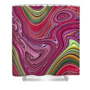 Thick Paint Abstract Shower Curtain