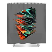 Thin Glass Triangles - 127 Shower Curtain