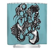 Thing 8 Shower Curtain