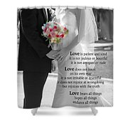 Things To Remember About Love - Black And White #3 Shower Curtain