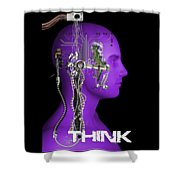 Think Shower Curtain
