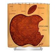Think Different Steve Jobs 2 Shower Curtain by Georgeta  Blanaru