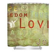 Think Positive Shower Curtain