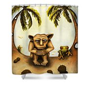 Thinking About Coconuts Shower Curtain