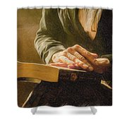 Thinking - Id 16217-152033-4576 Shower Curtain