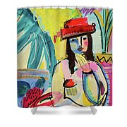 Thinking In Colors Shower Curtain