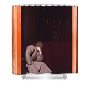 Thinking Monk Shower Curtain