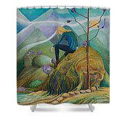 Thinking Place Shower Curtain