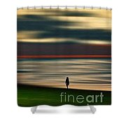 Thinking Poetry Shower Curtain