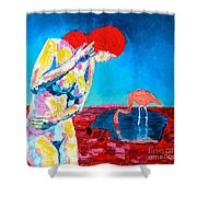 Thinking Woman Shower Curtain