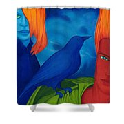 Thinkng Abaut Separation. Shower Curtain