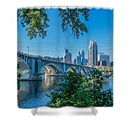 Third Avenue Bridge Over Mississippi River Shower Curtain