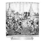 Third Burmese War, 1885 Shower Curtain