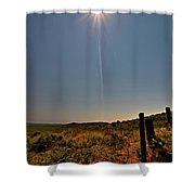 Third Contact Shower Curtain