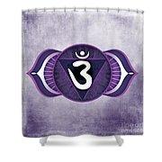 Third Eye Chakra Shower Curtain by David Weingaertner