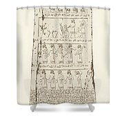 Third Side Of Obelisk, Illustration From Monuments Of Nineveh Shower Curtain