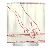 Third Station- Jesus Falls The First Time Shower Curtain