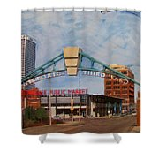 Third Ward Arch Over Public Market Shower Curtain