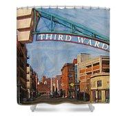 Third Ward Entry Shower Curtain