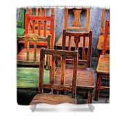 Thirteen Chairs Shower Curtain