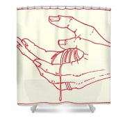 Thirteenth Station- Jesus Is Taken Down From The Cross Shower Curtain