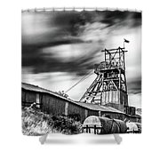 Thirty Seconds At Big Pit Mono Shower Curtain