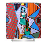 This Guitar Is More Than An Instrument Shower Curtain