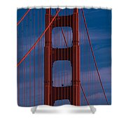 This Is A Close Up Of The Golden Gate Shower Curtain